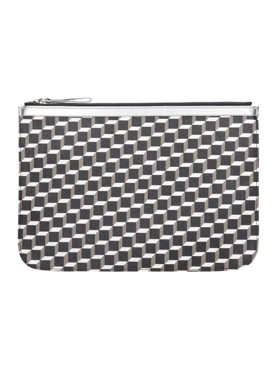 Pierre Hardy Pouch L  Clutch In Black Canvas
