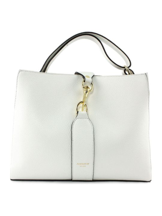 Avenue 67 Annetta White Leather Bag