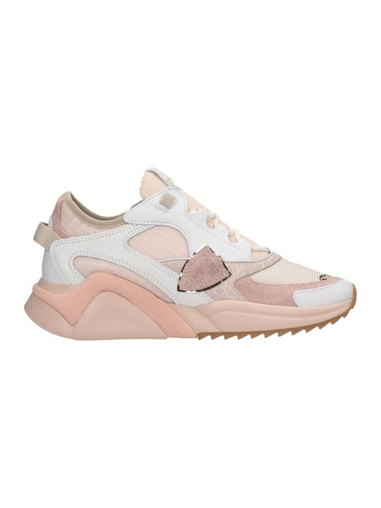 Philippe Model Eze L Sneakers In Rose-pink Tech/synthetic