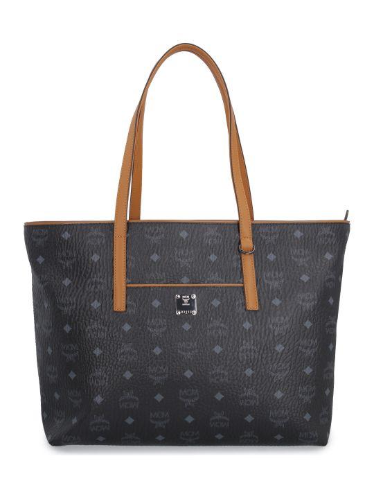 MCM Anya Visetos Fabric Tote Bag