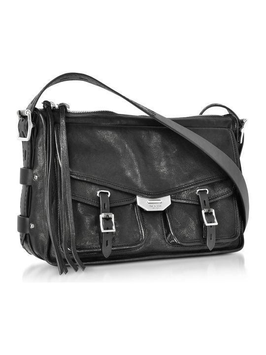 Rag & Bone Black Leather Field Messenger Bag
