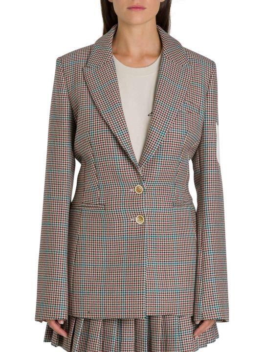 Off-White Contrast-patch Tweed Blazer