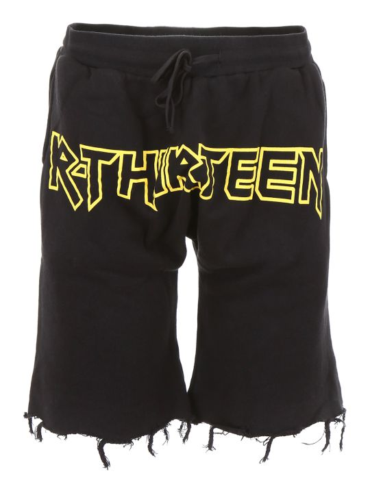 R13 Shorts With Logo Print