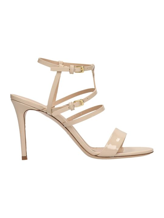 Dei Mille Beige Patent Leather Sandals