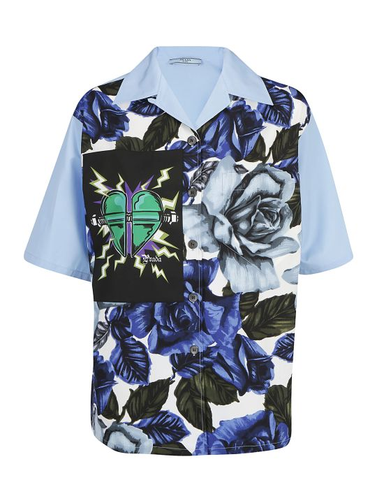 Prada Short-sleeved Cotton Shirt