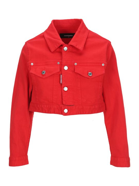 Dsquared2 D Squared Cropped Denim Jacket