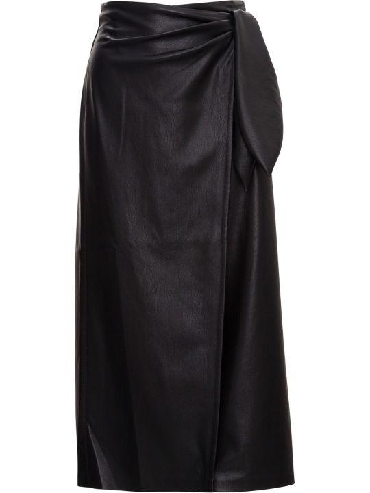 Nanushka Wrap Midi Skirt In Vegan Leather