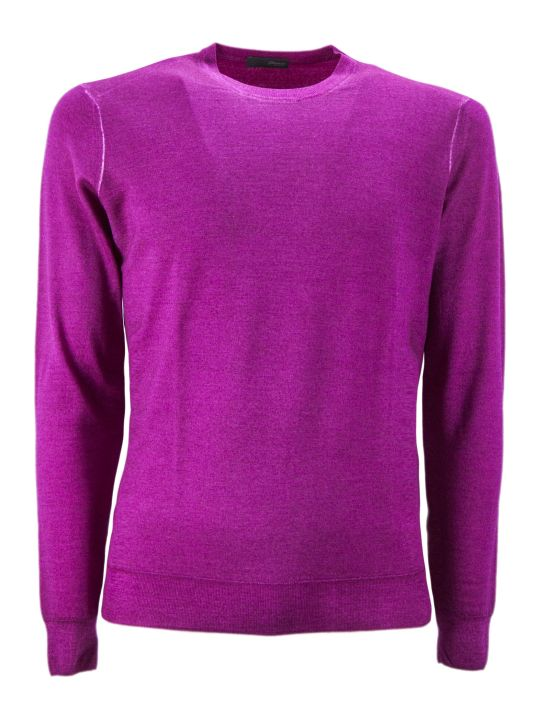 Drumohr Fuchsia Merino Wool Pullover