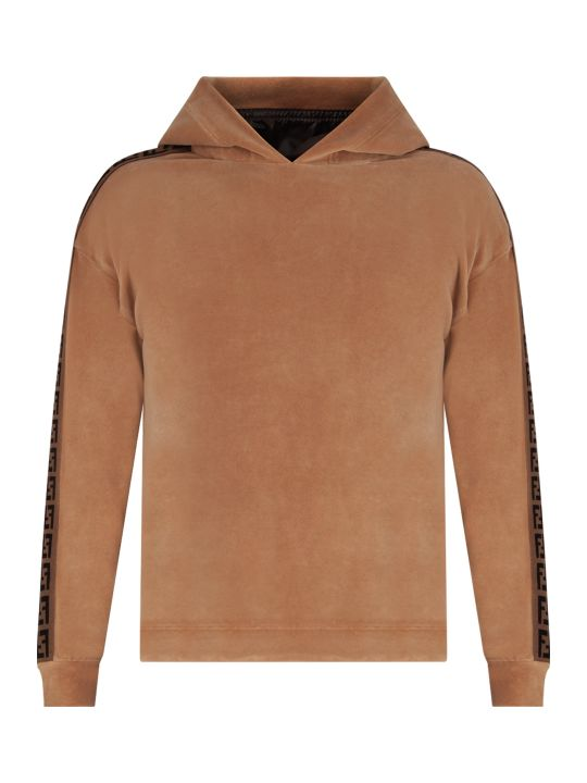 Fendi Camel Kids Sweatshirt With Iconic Double Ff