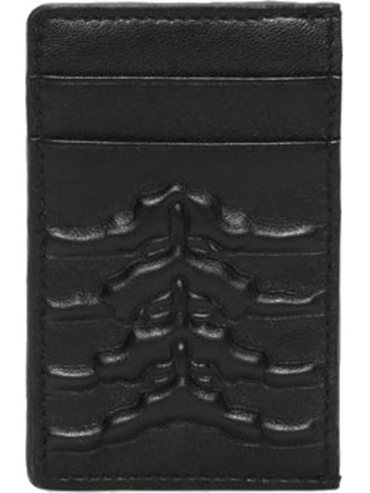 Alexander McQueen Rib Cage Embossed Card Holder