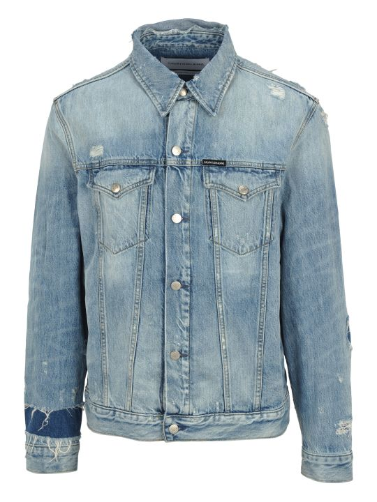 Calvin Klein Jeans Ripped Denim Jacket