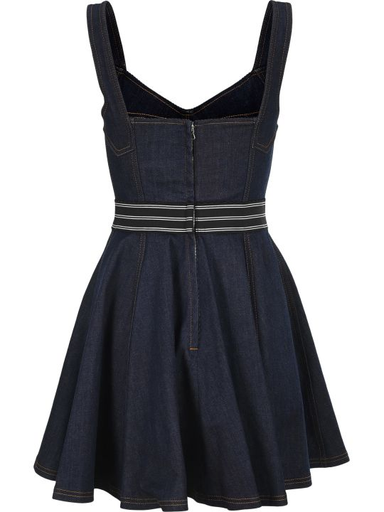 Dolce & Gabbana Dolce&gabbana Flared Denim Mini Dress