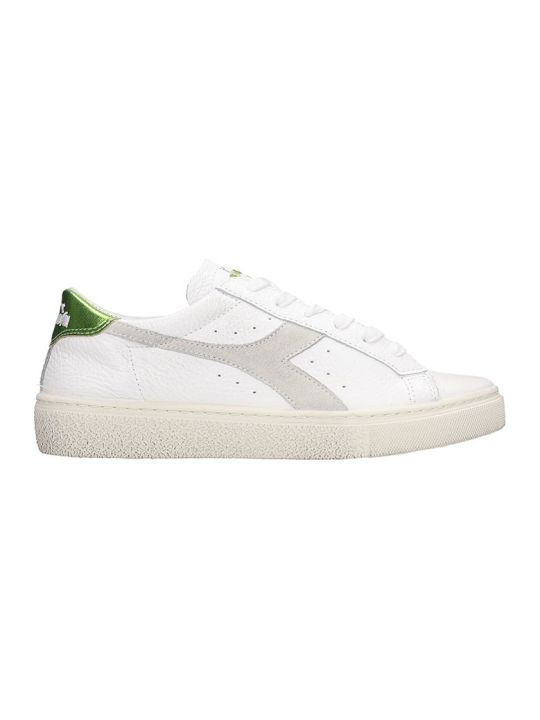Diadora Montecarlo  Sneakers In White Leather