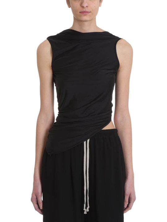Rick Owens Lilies Black Cotton Topwear