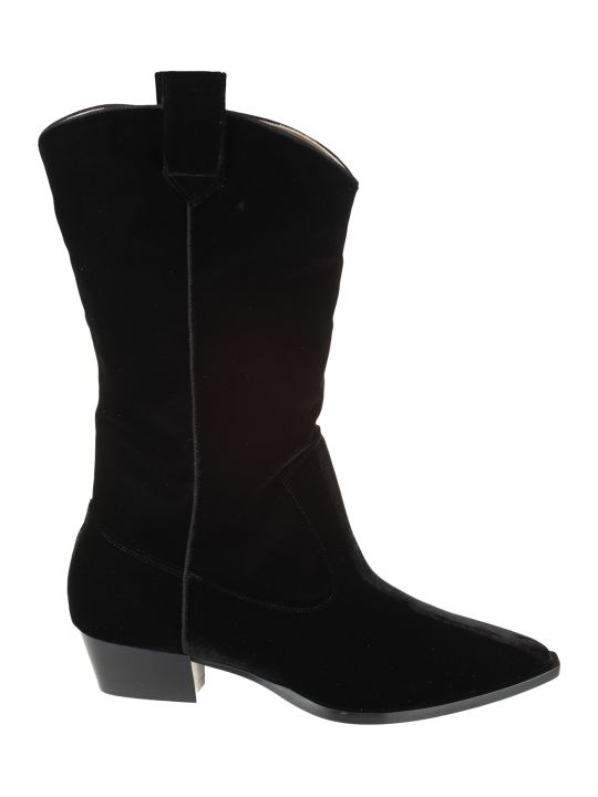 GIA COUTURE Velvet Cowboy Boots