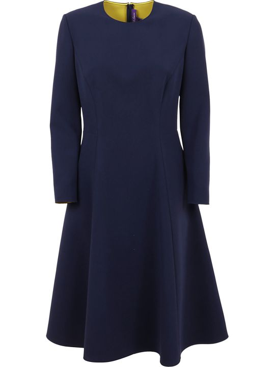 Ralph Lauren Black Label Viola Long Sleeve-day Dress