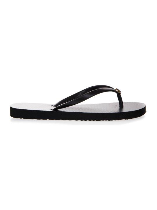 Tory Burch Black Rubber Flip-flops Sandals