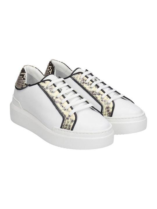 Paula Cademartori Sneakers In White Leather