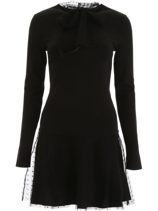 RED Valentino Mini Dress With Plumetis