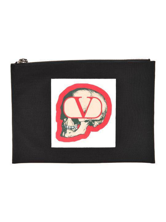 Valentino Skull Pouch