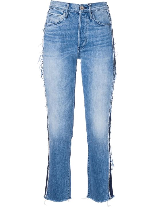 3x1 Frayed Trim Jeans