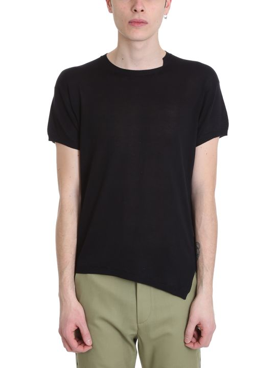 Maison Flaneur Black Silk T-shirt
