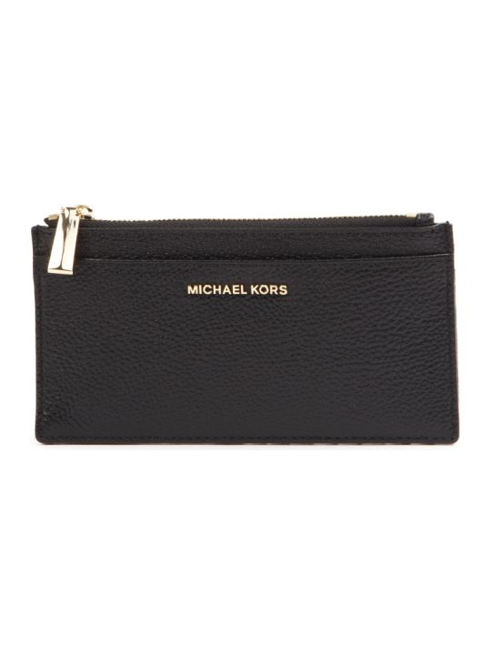 MICHAEL Michael Kors Black Leather Logo Cardholder