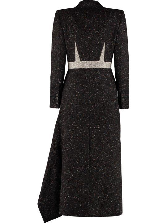 Alexander McQueen Wool Blend Double-breasted Coat