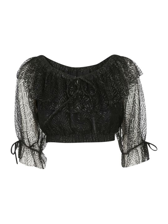 Moschino Lace Detail Cropped Top