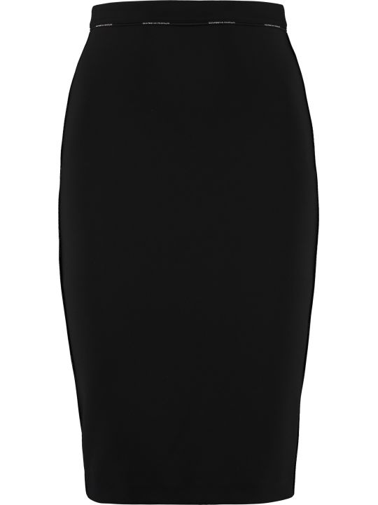 Elisabetta Franchi Celyn B. Stretch Pencil Skirt With Zip