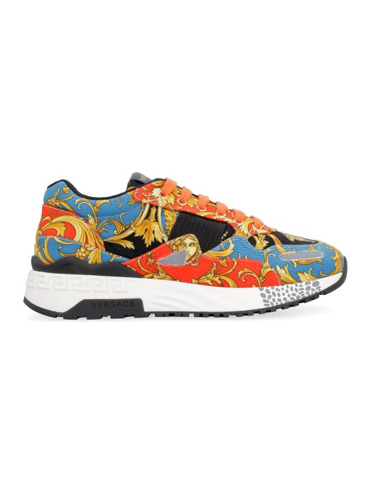 Versace Printed Canvas Low-top Sneakers