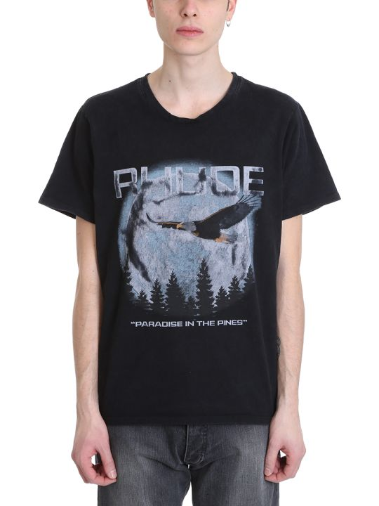 Rhude Paradise Black Cotton T-shirt