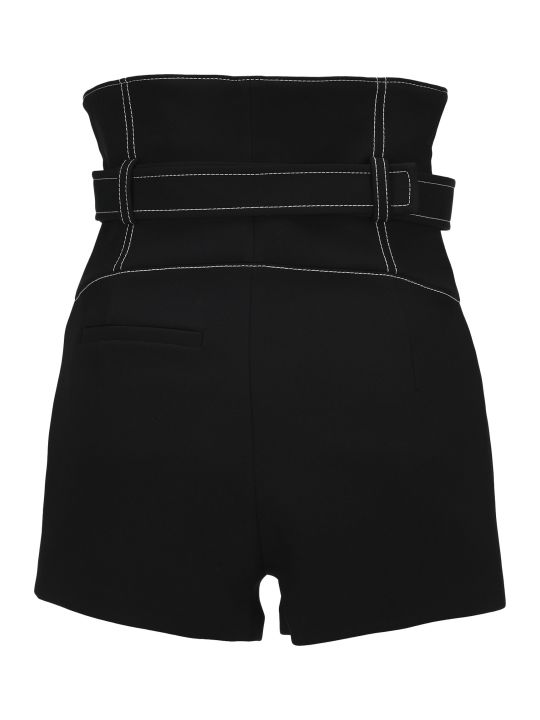 Kenzo Belted High-waisted Shorts