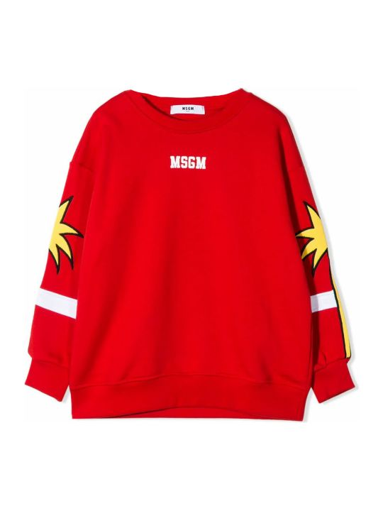MSGM Red Cotton Sweatshirt
