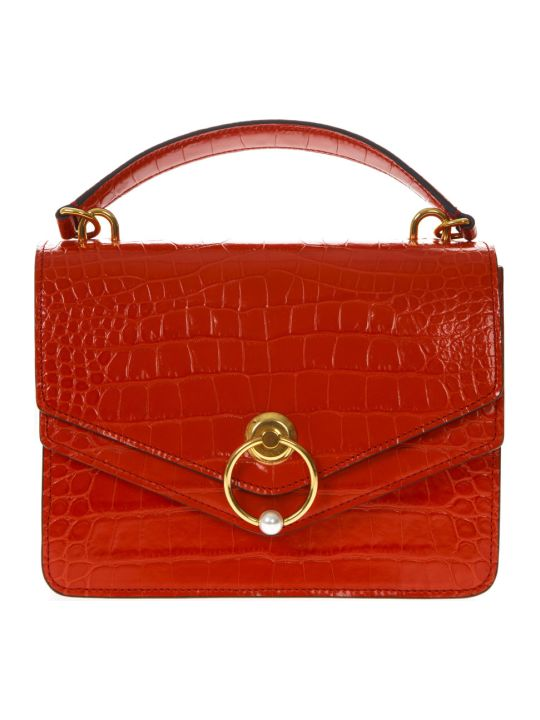Mulberry Harlow Red Embossed Leather Handbag