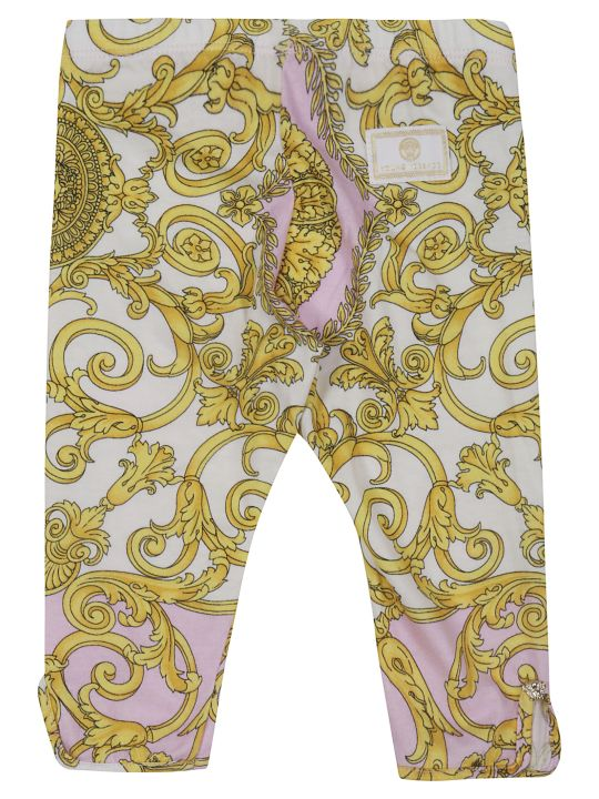 Young Versace Young Versace Baroque Print Trousers