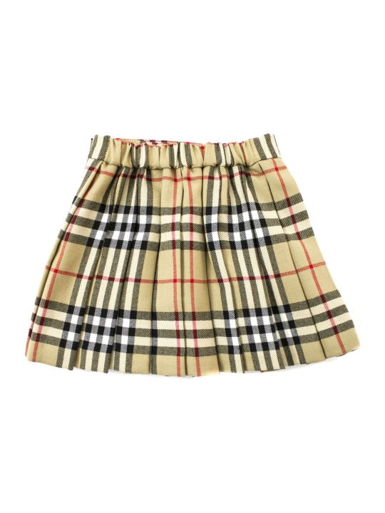 Burberry Vintage Check Pleated Skirt