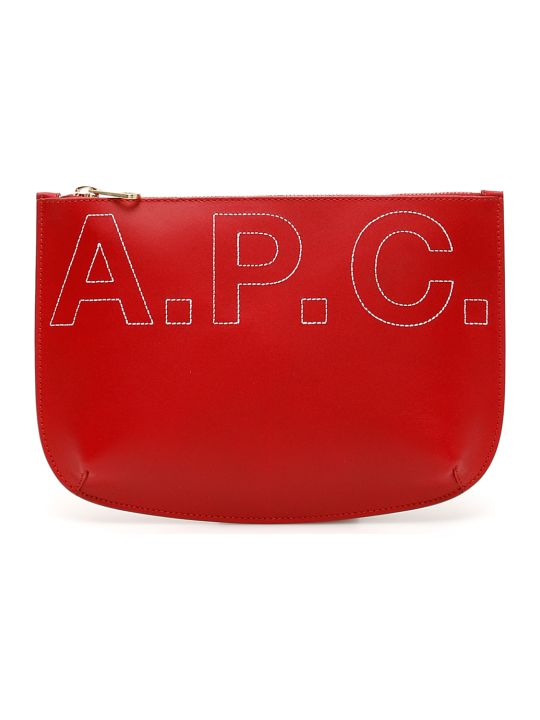 A.P.C. Sarah Logo Clutch