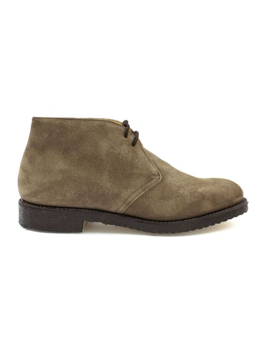 Church's Light Brown Leather And Suede Ryder Desert Boots.