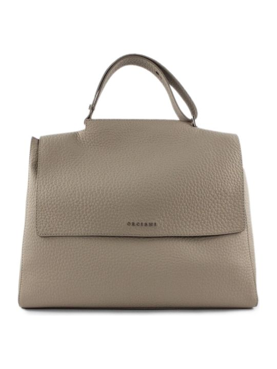 Orciani Beige Leather Sveva Bag