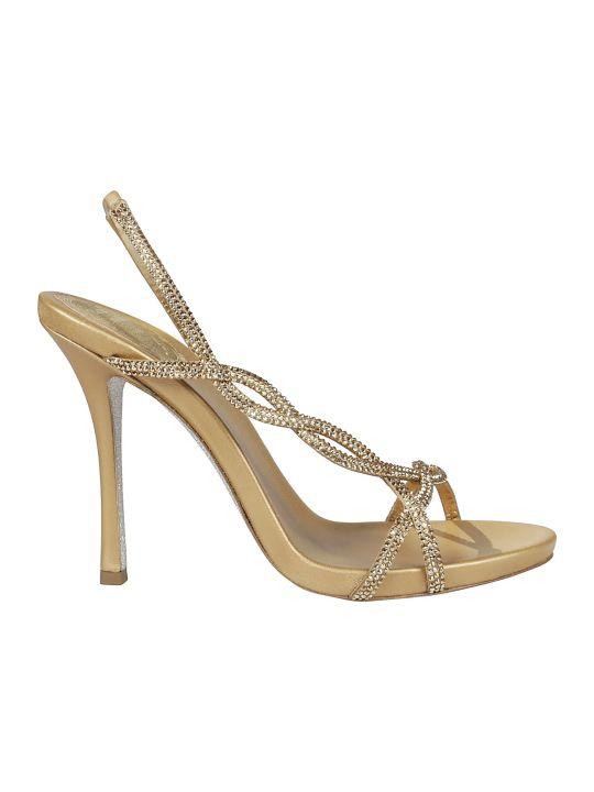 René Caovilla Treccia Embellished Sandals