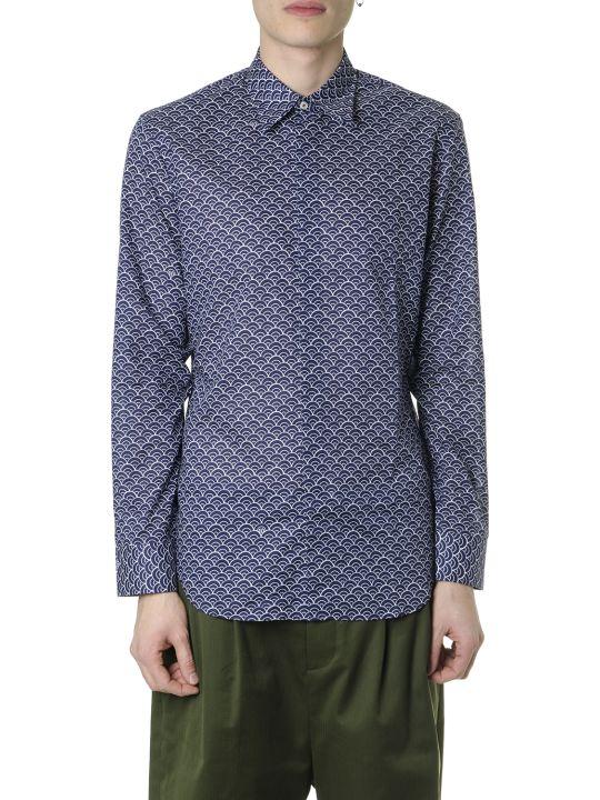 Maison Margiela Blue Color Printed Shirt