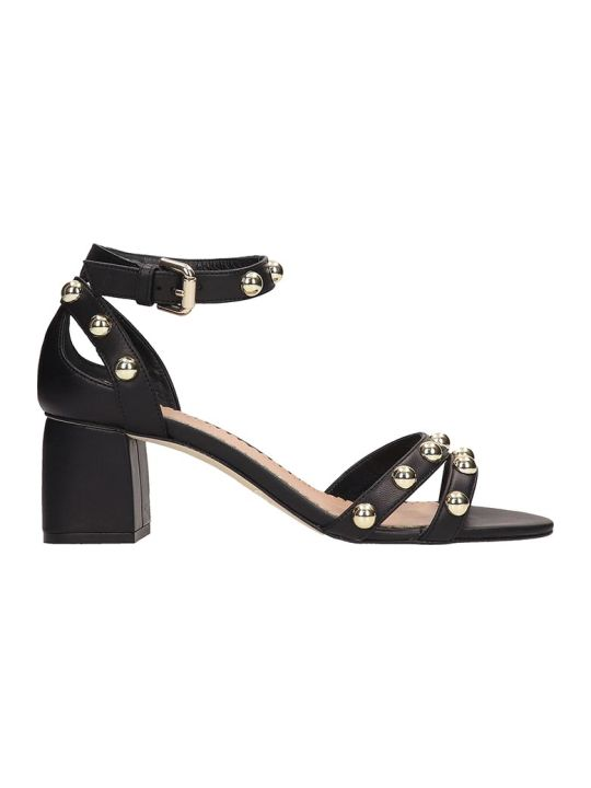 Julie Dee Black Leather Sandals