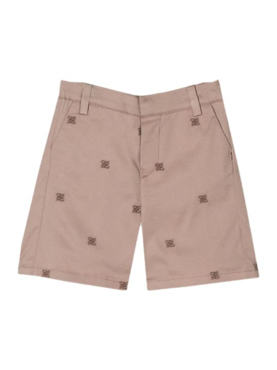 Fendi Karligraphy Beige Cotton Shorts