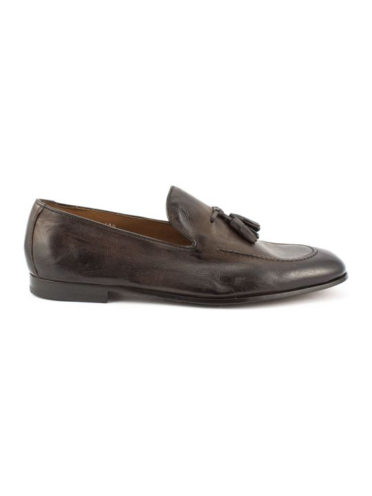 Doucal's Brown Soft Tassel Leather Loafer
