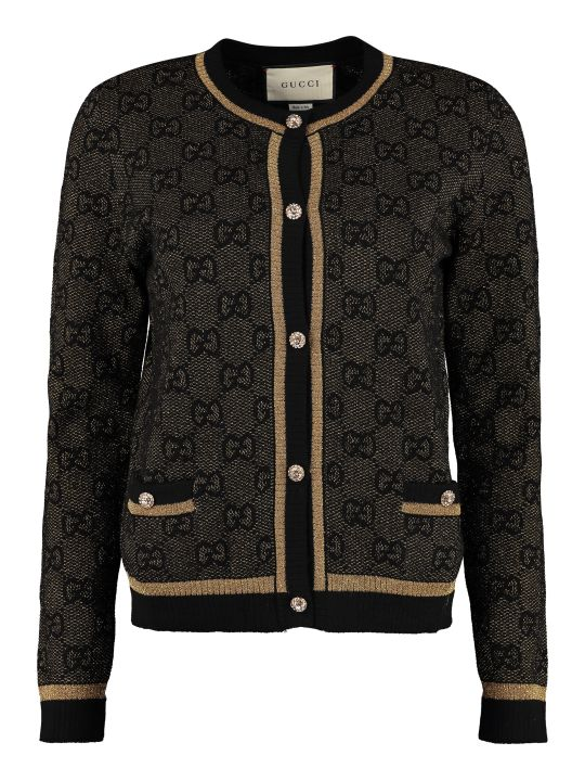 Gucci Cardigan With Embellished Buttons