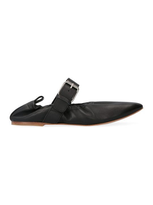 Plan C Leather Ballet Flats