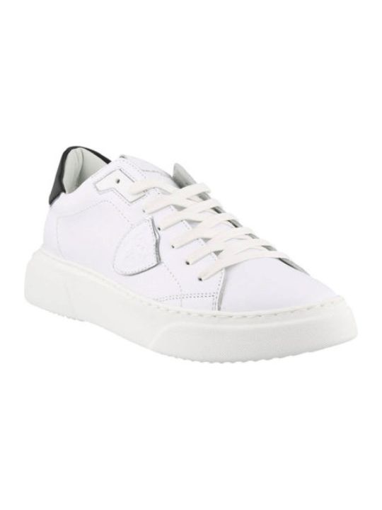 Philippe Model White Leather Temple Sneakers