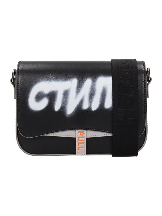 HERON PRESTON Shoulder Bag In Black Leather