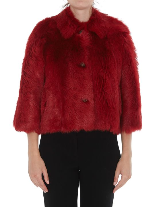 RED Valentino Double Face Eco Fur Jacket
